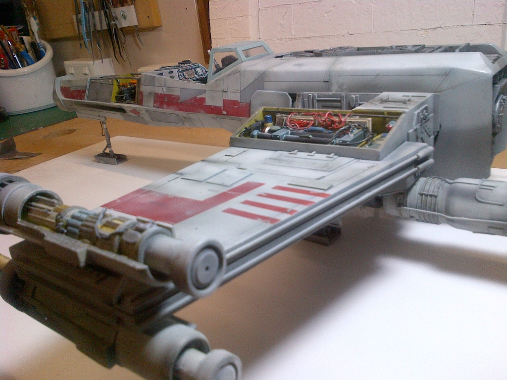 star wars x wing scratch build kiwimodeller com
